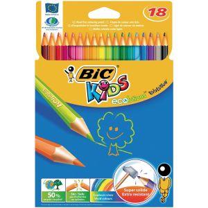 Bic 829728 - 18 Crayons de couleur Evolution assortis