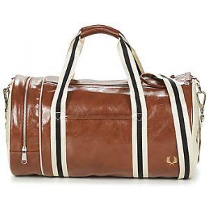 Fred Perry Sac de sport Classic Barrel Bag 31 litres Havane Ecru