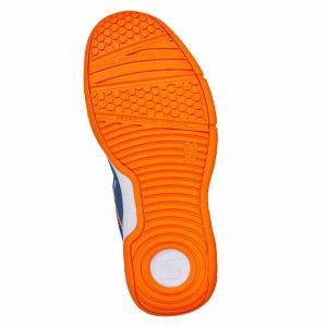 Salming Falco Indoor Shoes - Junior - Limoges Blue / Orange Flame - 32 2/3