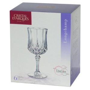 Cristal d'Arques G5186 - 6 verres à pied Longchamp (25 cl)