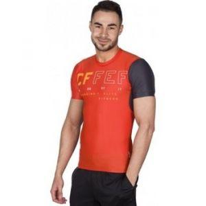 Reebok T-shirt Sport RCF SS Compression 169 jaune - Taille XL