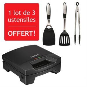 Cuisinart Grill électrique Griddler mini + 3 ustensiles offerts