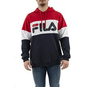 FILA Night Blocked sweat à capuche bleu rouge T. XL
