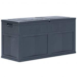 VidaXL Boîte de rangement de jardin 320 L Noir
