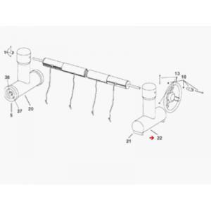 Delta 1863102 - Pied de rechange côté fixe pour enrouleur de bâche de piscine Roller