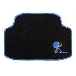 Custo Auto 1 tapis arrière de voiture universel moquette POL Eléphant brodé noir