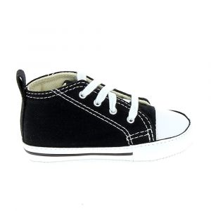 Converse Chaussures casual First Star Hautes Toile Noir - Taille 18