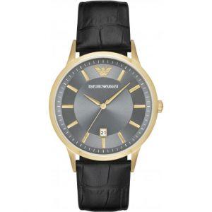 Emporio Armani AR11049 - Montre pour homme avec bracelet en cuir