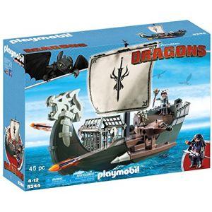 Playmobil 9244 - Dragons : Drago et vaisseau d'attaque
