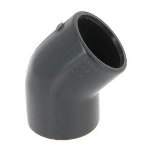 GIRPI Coude PVC pression femelle-femelle 45° O40