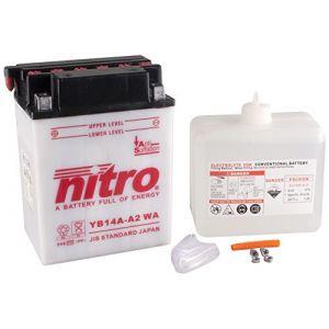Nitro YB14A-A2 WA -N- Batterie Moto Ouvert avec Pack Acide