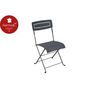 Fermob Chaise pliante slim noire de 50 x 47 x 88 cm