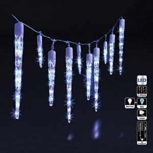 Guirlande de noël lumineuse d'extérieur 63 LED glaçons