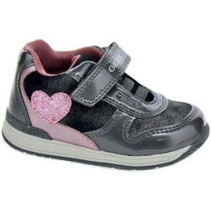 Geox B Rishon B, Sneakers Basses bébé Fille, Gris (Grey/Pink C0502), 20 EU
