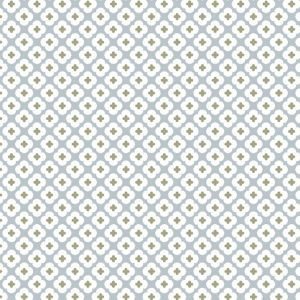 Craftine Tissu Coton enduit Christel G Design Tormentille Bleu glacé