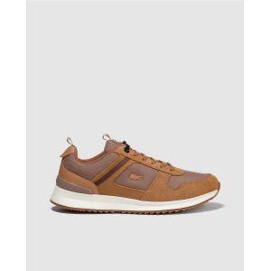 Lacoste Chaussures sport avec logo brodé sur le côté. Modèle JOGGEUR. Marron - Taille 43