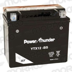 Power Thunder Batterie YTX12-BS AVEC ACIDE