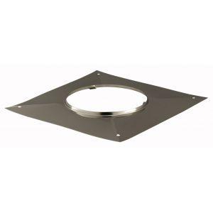 Poujoulat Plaque d étanchéité carrée - Diamètre : 130 -