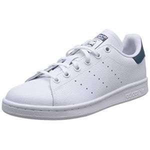 Adidas Enfant Stan Smith Blanche Et Bleue Junior Baskets