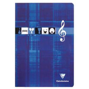 Clairefontaine Cahier Reliure intégrale musique & chant 21x29,7 50p séyès - Cahiers, bloc-notes