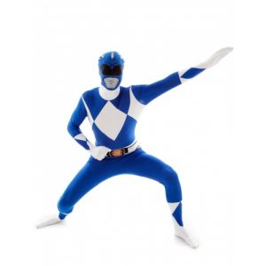 Déguisement Morphsuits Power Rangers bleu adulte