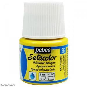 Pebeo Peinture tissu Setacolor - Moiré Opaque - Jaune Riche - 45 ml