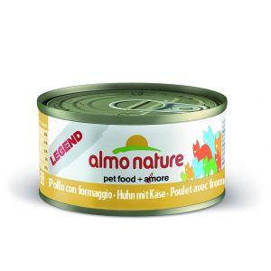 Almo Nature Pâtée en boîte Legend Poulet avec Fromage pour Chat