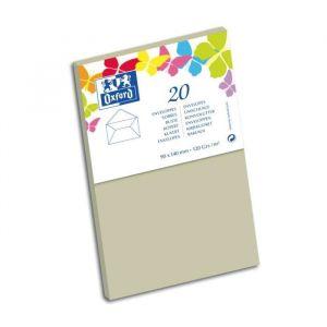 Oxford 20 Enveloppes - 14 cm x 9 cm x 1,5 cm - 120g - Gris clair