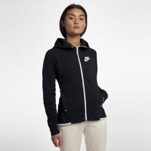 Nike Sweat à capuche entièrement zippé Sportswear Tech Fleece Windrunner pour Femme - Noir - Taille XL