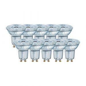 Osram 4058075036703 Spot LED 4,30W Cool Réflecteur 4000K, Verre, GU10, 4 W, Argent