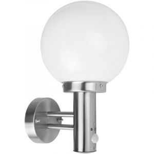 I-Watts APPLIQUE BOULE INOX 60W AVEC DETECTEUR OUTDOOR LIGHTING