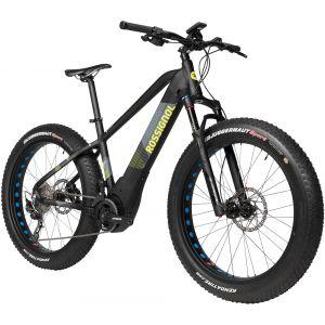 Rossignol Fatbike electrique e track fat shimano deore 10v 26 plus noir mat jaune 2018 unique 165 185 cm