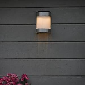 Qazqa Lampe d extérieur Boston LED aluminium à l énergie solaire IP44
