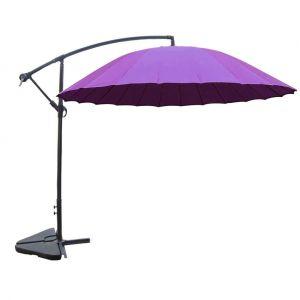 Concept-Usine Shanghai violet : parasol déporté et inclinable rond Ø3m