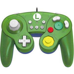 Hori Battle Pad (Luigi) - Manette USB style GameCube pour Switch - Officielle Nintendo