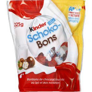 Kinder Schoko-bons - Bonbons de chocolat fourrés lait et noisettes - Le sachet de 225 g
