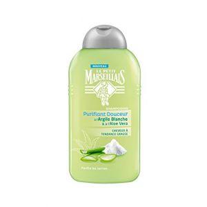 Le Petit Marseillais Purifiant Douceur - Shampooing à l'argile blanche & à l'aloe vera cheveux à tendance grasse