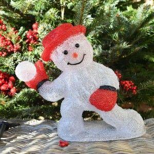 Bonhomme de neige lumineux Louis Blanc froid 48 LED