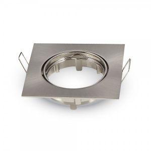 AGS Spot orientable carré Satin Nickel
