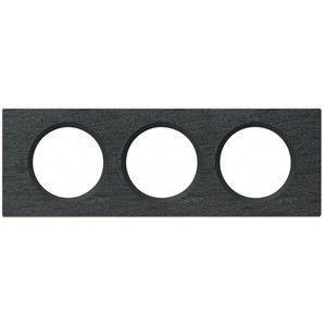 Legrand Plaque de finition triple Ardoise