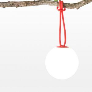 Fatboy BOLLEKE - Suspension LED rechargeable d'extérieur Rouge Ø20cm - Luminaire d'extérieur designé par Nathalie Schelleskens