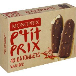 Monoprix Bio Bâtonnets de glace vanille
