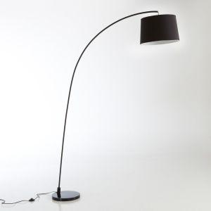 Lampadaire design, forme arc, Waldun . Noir