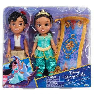 Coffret 2 poupées Jakks Pacific Aladdin et Jasmine 15 cm