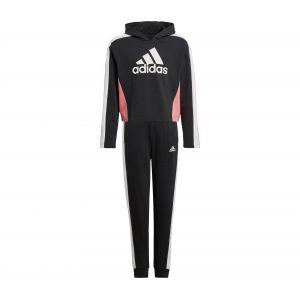 Adidas Survêtement HoodedCROP TS Noir - Taille 7-8 Ans