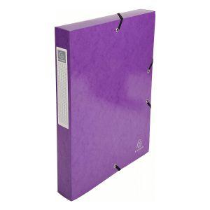 Exacompta 59926E - Boîte de classement carte IDERAMA, dos de 40, coloris violet