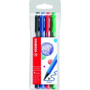 Stabilo 488/4 - Etui de 4 stylos-feutres pointMax, pointe L