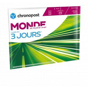 Chronopost Enveloppe matelassée prête à expédier dans le Monde - Livraison 3 jours - 1 kg