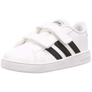 Adidas Grand Court I, Chaussons Mixte bébé, Blanc Negbás/FTW Bla 000, 23 EU