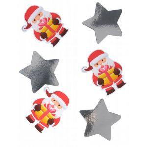 20 confettis géants Père Noël (11 cm)